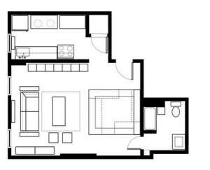 Sample Studio Apartment Layout